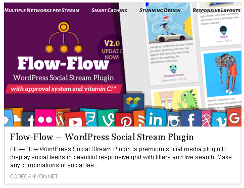 Fast WordPress social stream plugin